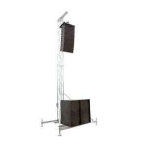 torri per sistema audio TWS30C strutture alluminio palchi coperture